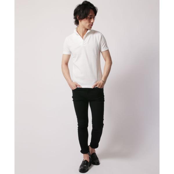 ポロシャツ メンズ ランダムテレコ テレコ スキッパー 半袖 ポロシャツ Buyer's Select バイヤーズセレクト|spu|08