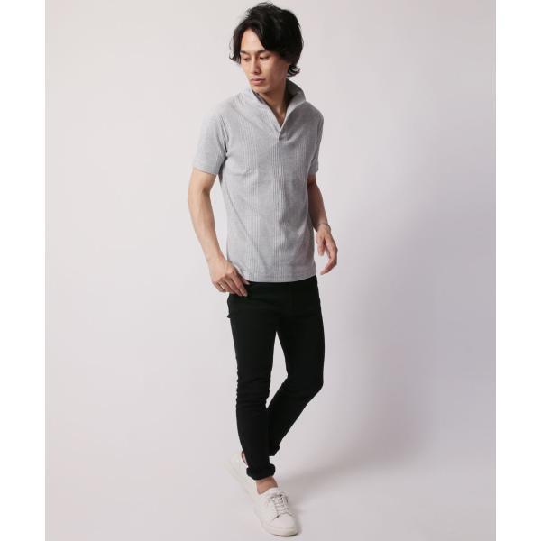 ポロシャツ メンズ ランダムテレコ テレコ スキッパー 半袖 ポロシャツ Buyer's Select バイヤーズセレクト|spu|09