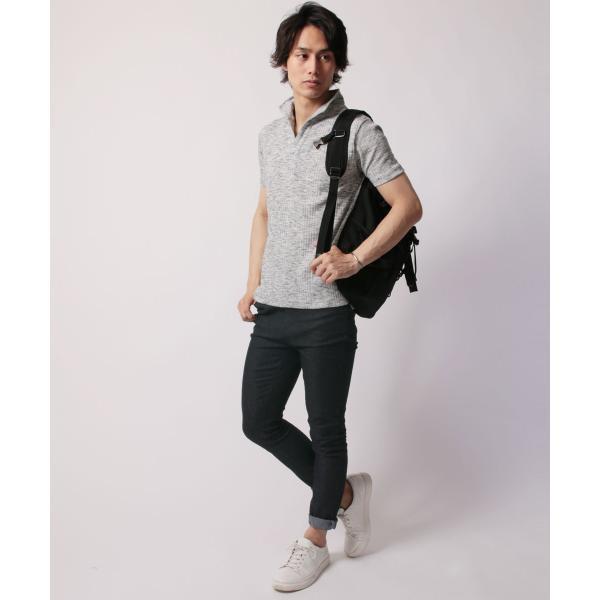 ポロシャツ メンズ ランダムテレコ テレコ スキッパー 半袖 ポロシャツ Buyer's Select バイヤーズセレクト|spu|10