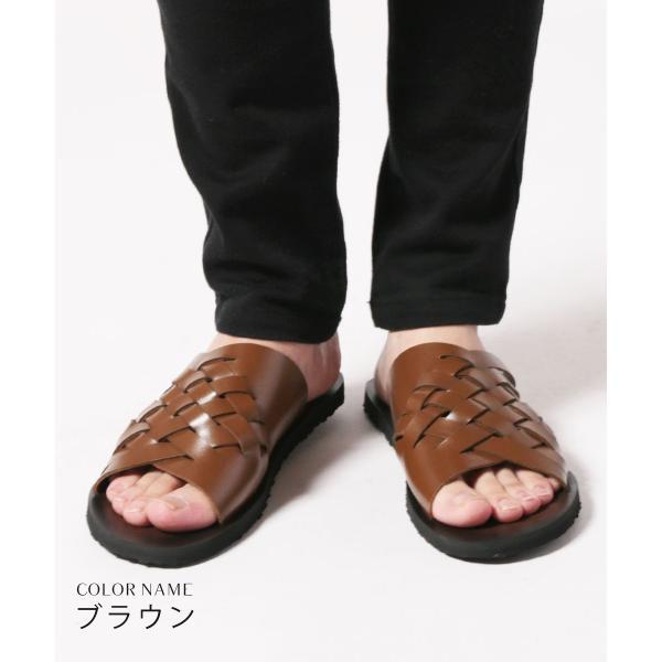 メンズ サンダル メンズファッション PUレザー イントレデザイン サンダル Buyer's Select バイヤーズセレクト|spu|03
