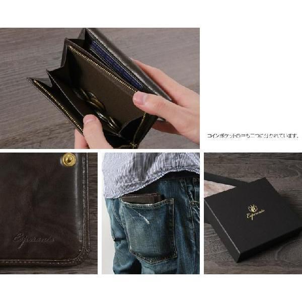 85c8b8057420 ... ミニ財布 メンズ 日本製 本革 クレタレザー 二つ折り esperanto エスペラント 父の日