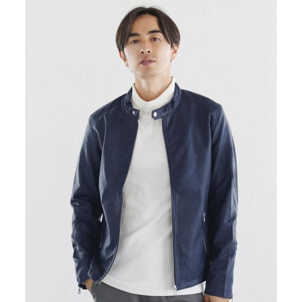 ライダースジャケット メンズ シングル スムース / スエード リアルタッチ レザー ライダースジャケット|spu|11