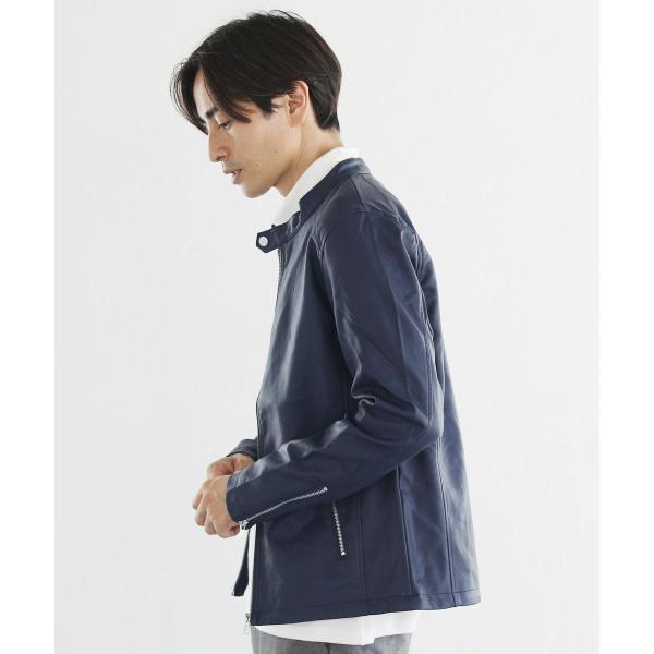 ライダースジャケット メンズ シングル スムース / スエード リアルタッチ レザー ライダースジャケット|spu|12