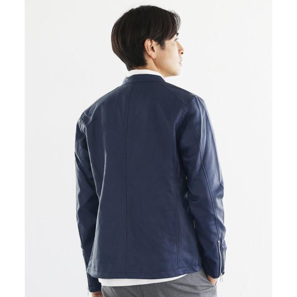 ライダースジャケット メンズ シングル スムース / スエード リアルタッチ レザー ライダースジャケット|spu|13