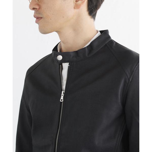 ライダースジャケット メンズ シングル スムース / スエード リアルタッチ レザー ライダースジャケット|spu|15