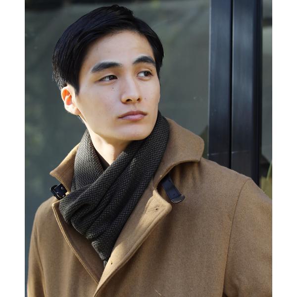 日本製 マフラー メンズ アクリル ニット ラッセル ストライプ プレゼント 彼氏 レディース ユニセックス ペア|spu|02