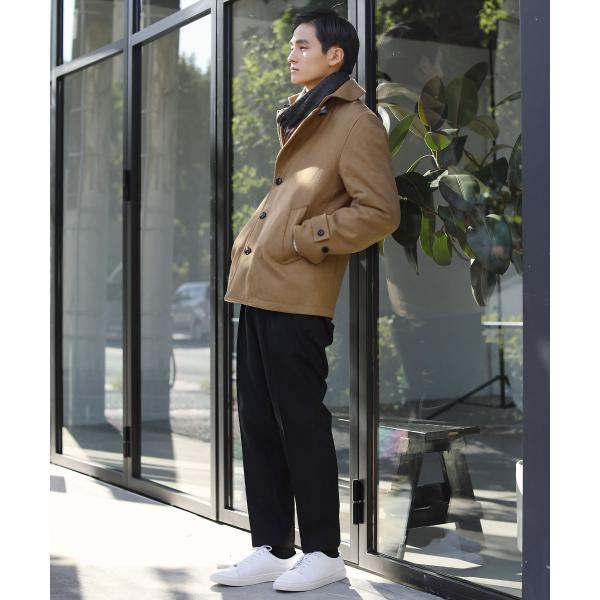 日本製 マフラー メンズ アクリル ニット ラッセル ストライプ プレゼント 彼氏 レディース ユニセックス ペア|spu|03