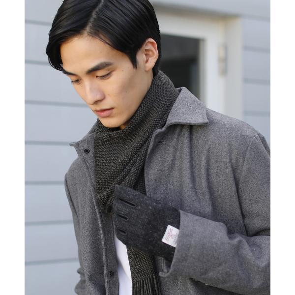 日本製 マフラー メンズ アクリル ニット ラッセル ストライプ プレゼント 彼氏 レディース ユニセックス ペア|spu|05