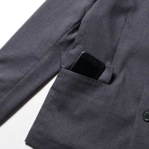 テーラードジャケット メンズ TR素材 ストレッチ オールシーズン 春 新作 セットアップ|spu|20