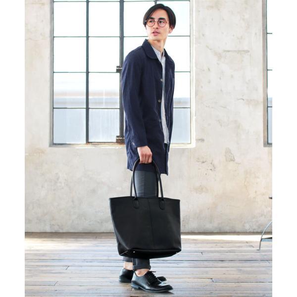 トートバッグ メンズ ユニセックス A4サイズ 通勤 通学 PUレザー|spu|11