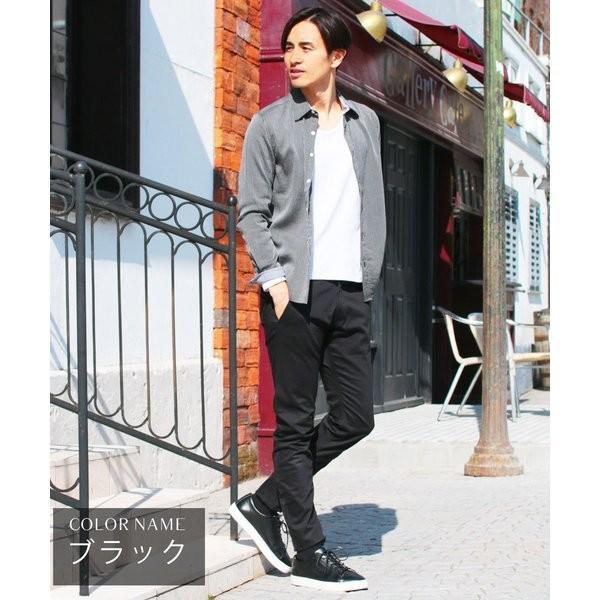 日本製 コーマ高密度サテンストレッチ クレッセントカット パンツ メンズ|spu|05