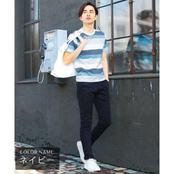 日本製 コーマ高密度サテンストレッチ クレッセントカット パンツ メンズ|spu|06