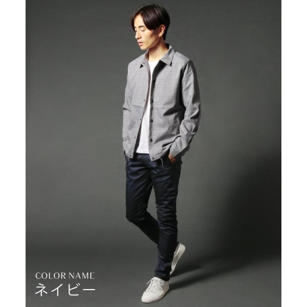 日本製 コーマ高密度サテンストレッチ クレッセントカット パンツ メンズ|spu|08