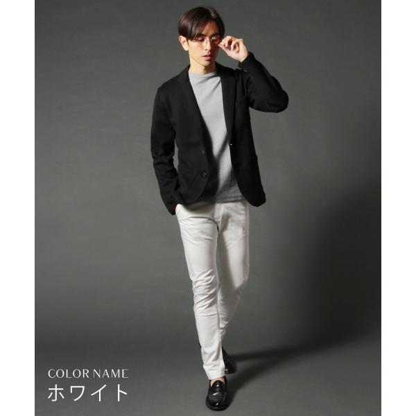 日本製 コーマ高密度サテンストレッチ クレッセントカット パンツ メンズ|spu|10