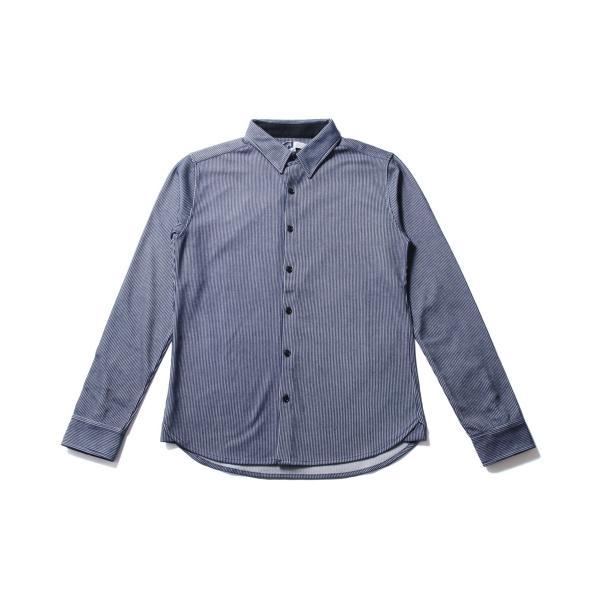 ストライプ シャツ メンズ 長袖 ストレッチ スマートフィット カジュアルシャツ|spu|11