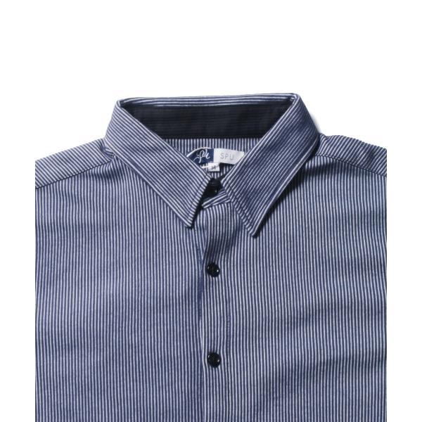 ストライプ シャツ メンズ 長袖 ストレッチ スマートフィット カジュアルシャツ|spu|13