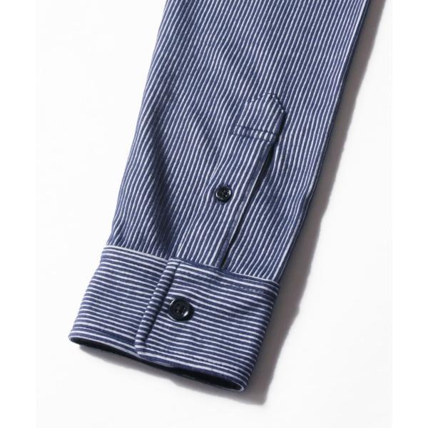 ストライプ シャツ メンズ 長袖 ストレッチ スマートフィット カジュアルシャツ|spu|15