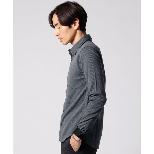 ストライプ シャツ メンズ 長袖 ストレッチ スマートフィット カジュアルシャツ|spu|09