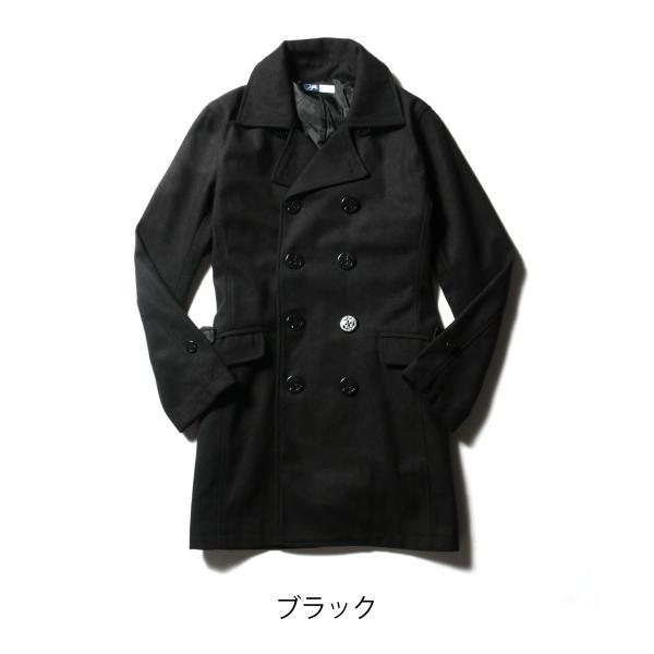 メンズ コート メンズファッション ウール メルトン ロング Pコート SPU スプ|spu|02