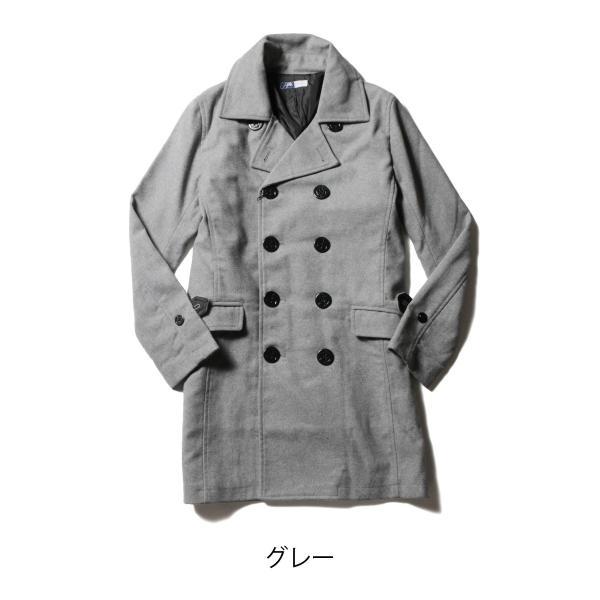 メンズ コート メンズファッション ウール メルトン ロング Pコート SPU スプ|spu|03