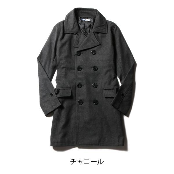 メンズ コート メンズファッション ウール メルトン ロング Pコート SPU スプ|spu|04