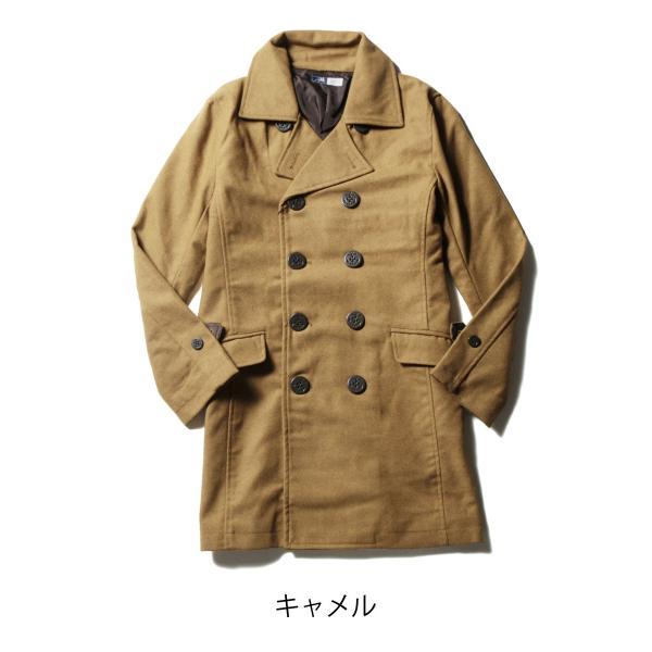メンズ コート メンズファッション ウール メルトン ロング Pコート SPU スプ|spu|05