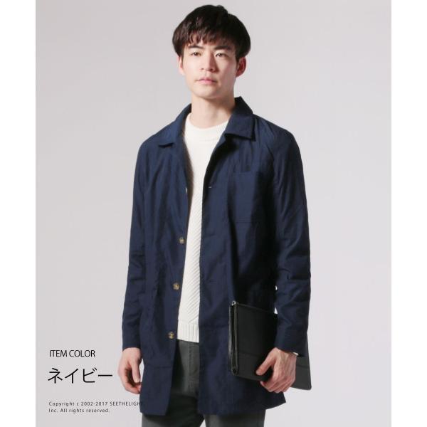 メンズ 春 秋 メンズファッション タイプライター スリム ショップ コート ライト アウター ロング シャツ SPU スプ|spu|02