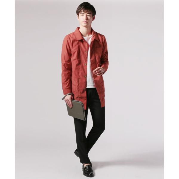メンズ 春 秋 メンズファッション タイプライター スリム ショップ コート ライト アウター ロング シャツ SPU スプ|spu|15