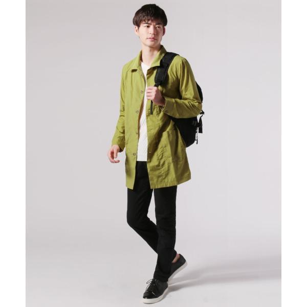 メンズ 春 秋 メンズファッション タイプライター スリム ショップ コート ライト アウター ロング シャツ SPU スプ|spu|16