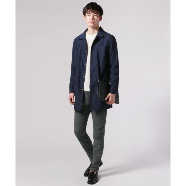 メンズ 春 秋 メンズファッション タイプライター スリム ショップ コート ライト アウター ロング シャツ SPU スプ|spu|10