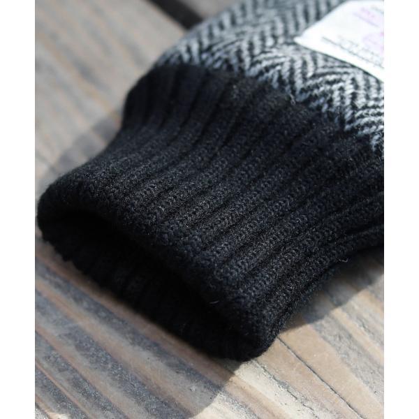 【手袋 メンズ】本革 スマホ 手袋 男性 レザー 羊革 豚革 ボア裏地 裏起毛 リブ ニット グローブ スマートフォン対応 spu 11