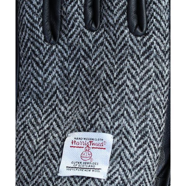 【手袋 メンズ】本革 スマホ 手袋 男性 レザー 羊革 豚革 ボア裏地 裏起毛 リブ ニット グローブ スマートフォン対応 spu 14