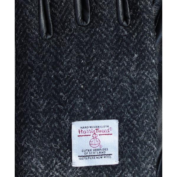【手袋 メンズ】本革 スマホ 手袋 男性 レザー 羊革 豚革 ボア裏地 裏起毛 リブ ニット グローブ スマートフォン対応 spu 15