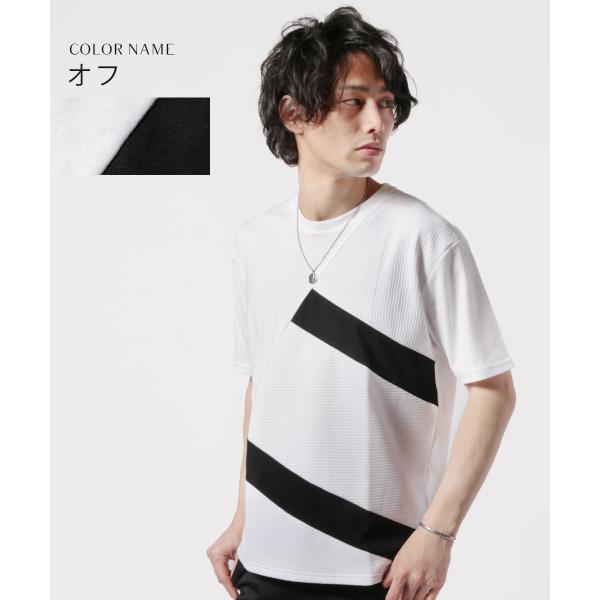 メンズ Tシャツ メンズファッション TC ポンチ ブロック切替 半袖 Tシャツ Buyer's Select バイヤーズセレクト spu 02