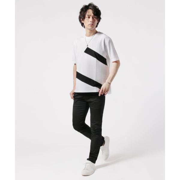 メンズ Tシャツ メンズファッション TC ポンチ ブロック切替 半袖 Tシャツ Buyer's Select バイヤーズセレクト spu 05