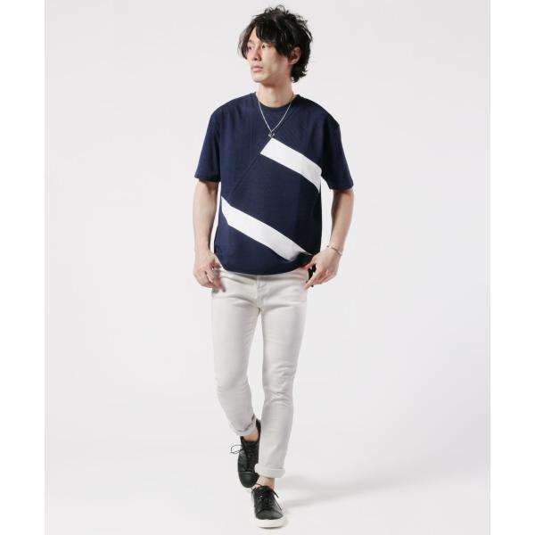 メンズ Tシャツ メンズファッション TC ポンチ ブロック切替 半袖 Tシャツ Buyer's Select バイヤーズセレクト spu 06