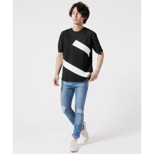 メンズ Tシャツ メンズファッション TC ポンチ ブロック切替 半袖 Tシャツ Buyer's Select バイヤーズセレクト spu 07