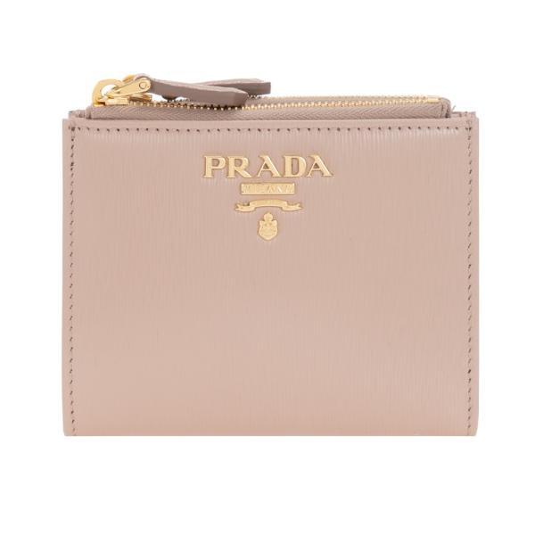 プラダ財布二つ折り財布ベージュ系PRADA1ML0242B6PF0236VITELLOMOVECIPRIAレザー革新品正規品