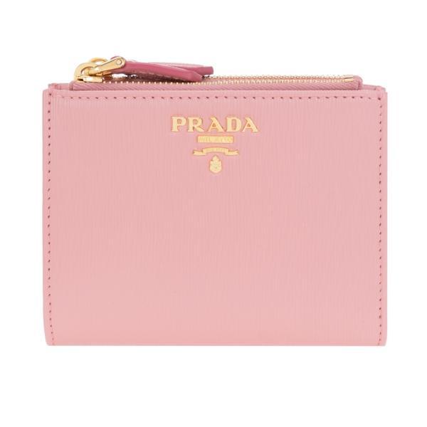 プラダ財布二つ折り財布ピンクPRADA1ML0242EZZF0442VITELLOMOVEPETALOレザー革新品正規品