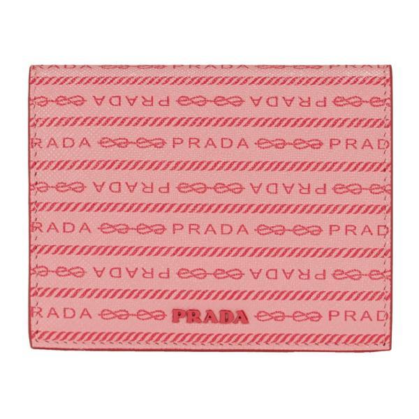 プラダ財布二つ折り財布ミニ財布ピンク系PRADA1MV2042DF8F0442SAFFIANOPRADAPETALOレザーマット