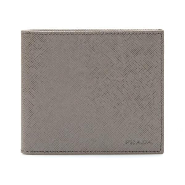 プラダPRADA二つ折り財布グレージュ2MO738PN9F0572SAFFIANOARGILLA