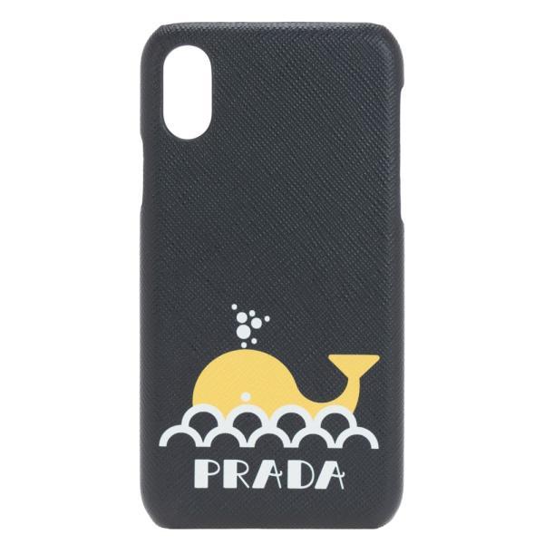 プラダアイフォンケースPRADAiphoneXスマホケースブラック/イエローメンズ2ZH0582BOVF0C5ZクジラSAFFI