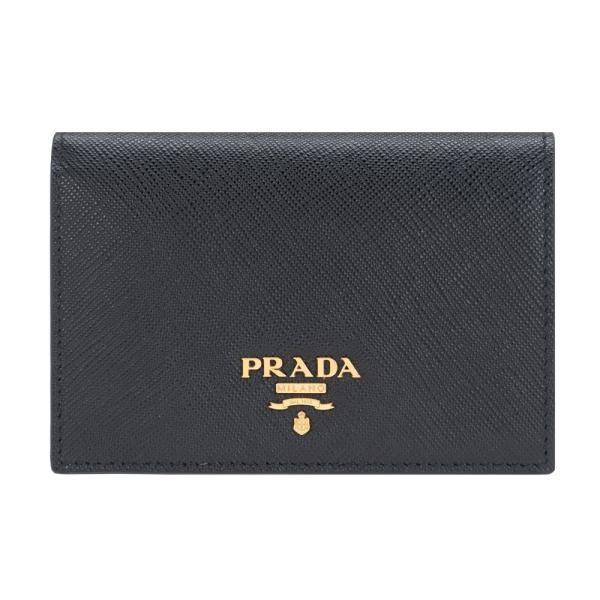 プラダ財布二つ折り財布ミニ財布PRADAレディース折り財布NEROブラックサフィアーノ