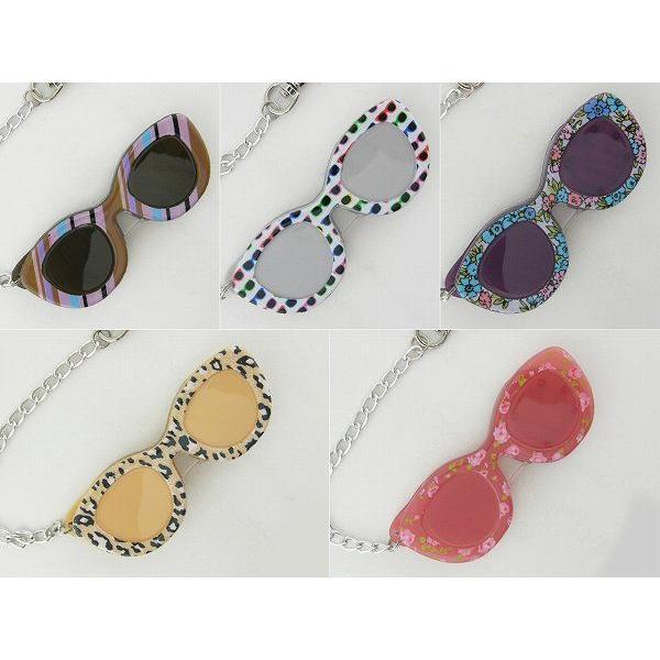 レンテ LP1-01 ストライプ LED スライドルーペ ライト メガネ めがね 拡大鏡レンズ 老眼鏡 デコ チェーン付 プレゼント 女性 かわいい レディース