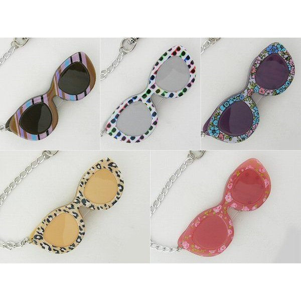 レンテ LP1-02 グラス LED スライドルーペ おしゃれ メガネ めがね 拡大鏡レンズ 老眼鏡 デコ チェーン付 プレゼント 女性 ライト付 レディース