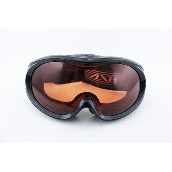 アックス ゴーグル AX460-ST-BK 新作 メガネ対応 黒 スキー スノボ ベンチレーター 日本製|squacy|02