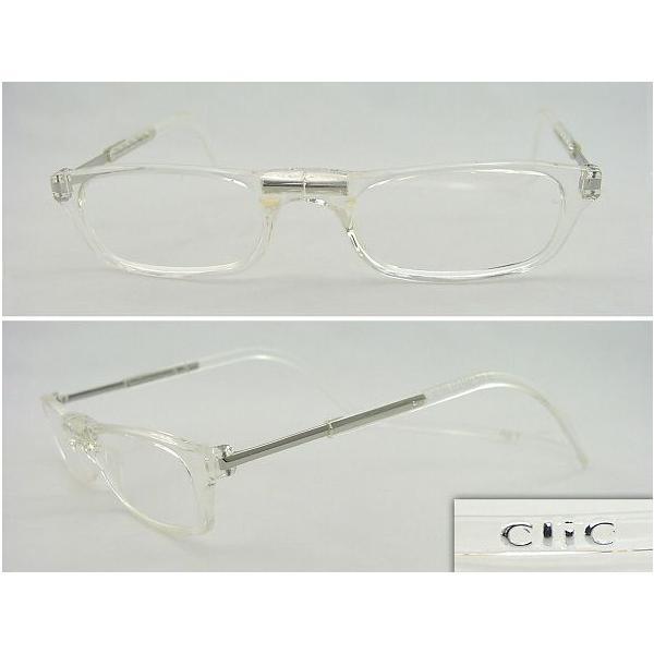 クリックリーダーClic老眼鏡+3.0クリア マグネット 便利 軽量 パソコン デスクワーク 作業用 磁石 火野 正平 さん 秋野暢子 さん愛用