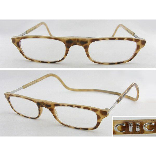 クリックリーダーClic度数+3.00老眼鏡 ブロンドデミ 茶 シニアグラス 携帯 便利 拡大鏡 人気 個性 めがね メガネ 眼鏡 新品 本物 正規品 アニマル 趣味 新聞