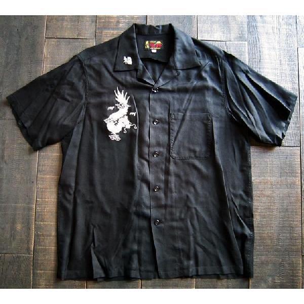 スカシャツ/メンズ/刺繍シャツ/オープンカラーシャツ|squeezecoconuts