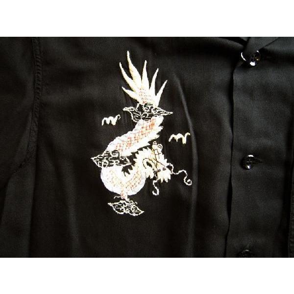 スカシャツ/メンズ/刺繍シャツ/オープンカラーシャツ|squeezecoconuts|02